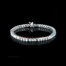 Echtschmuck Tennisarmband Diamanten 585er Weißgold Brillanten Neu 4,70 Karat Neu