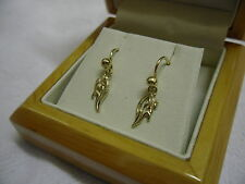 Cymru y Metel 9ct Welsh Gold Daffodil Drop Earrings