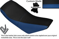 ROYAL BLUE & BLACK CUSTOM FITS APACHE 150 QUAD DUAL LEATHER SEAT COVER ONLY