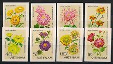VIETNAM 1978 MiNr: 999 U - 1006 U ** POSTFRISCH CHRYSANTHEMUMS FLORA FLOWERS