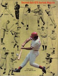 1978 Cincinnati Reds Baseball Yearbook magazine, Pete Rose Johnny Bench,Perez VG
