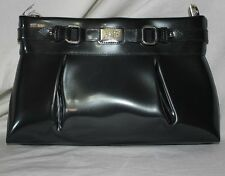 Beijo Classic Purse Lady Like Bag Charcoal Gray Handbag Convertible Clutch Strap