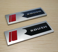 Pair Metal Roush Square R Side Nameplate Emblem Fender Badge Decal Matte Silver