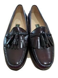 E3 Cole Haan Tassel Loafers Burgundy Leather Slip On Shoes Mens Size 11 E3