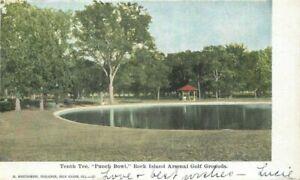 1906 Rock Island Arsenal Golf Grounds Illinois Montgomery Postcard 20-11285