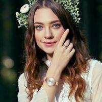 Women Girls Fashion Mesh Band Wrist Watch Business Dress Analog Quartz Watches