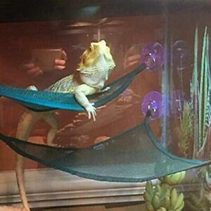 2 Pack Bearded Dragon Hammock Lizard Lounger Ladder Hanging Bed Accessories, Rep