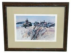 """Vtg Rex Brandt SIGNED NUMBERED Limited Edition Lithograph """"August Lopez"""" w COA"""