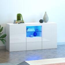 Modern TV Unit Cabinet Storage Sideboard Cupboard High Gloss Door RGB LED Light