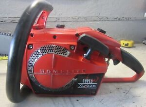 """VINTAGE COLLECTIBLE HOMELITE SUPER XL-925 CHAINSAW WITH 24"""" BAR"""