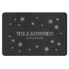 #93695 Herzen Willkommen Veilchen Frühling Deko Fußmatte Türmatte 60x40cm