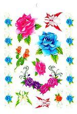 Temporay Körper Schmuck Tattoo Einmal Tatoo Tätowierung Bodyart Rose Butterfly