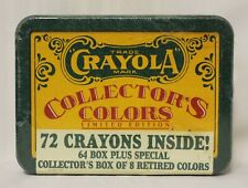 Crayola 1991 Collector's Colors Limited Edition 72 Colors in Tin Box