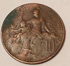 10 Centimes Daniel Dupuis Bronze 1916 N5