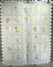 """New Handmade Baby Quilt / Wall Hanging """"Precious Moments & The Alphabet"""" 46"""" H"""