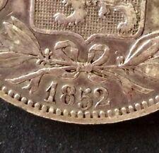 Belgique - Léopold Ier - Très Jolie  5 Francs 1852 - variété grand 52