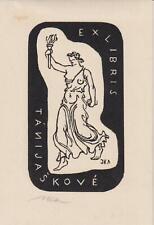 ex-libris  Tanijaskové (signé jaska)