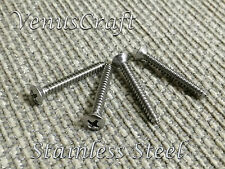 (4) Stainless Steel Short Guitar Neck Plate Mounting Bolts Screws For Fender