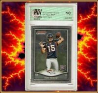 Tim Tebow 2010 Broncos Bowman Chrome Rookie Card PGI 10