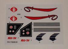 GI Joe Dreadnok Swampfire Sticker Decal Sheet
