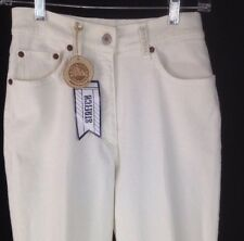 Blue Willi's Jeans Light Cream Stretch 26 inch Waist Slim Leg Made in Italy NEW