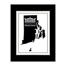 Rhode Island State 3 - Matted for 11x14 Frame