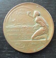 penning médaille bronze Eugène ROMBAUT par Emile FERNAND-DUBOIS 1902