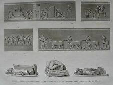 EL KAB (ELETHYIA). (pl. 69, A. vol. I). Bas reliefs des g ... DESCRIPTION EGYPTE