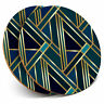 2 x Coasters - Green Gold Art Deco Geometric Home Gift #12546