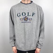 Vintage Golf Embroidered Sweatshirt | Sport Retro 90s | 2XL Grey