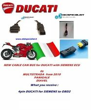 DUCATI 4pin way CAN Siemens ECU Monster Multistrada diagnostic Diavel obd2 cable