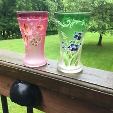 Pair Of Painted Glasses -Pink And Green