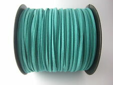 5/100 Yards 2.5mm Faux Suede Cord Flat Leather Cord Bracelet Necklace Rope DIY S