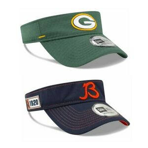 New Era NFL Chicago Bears Green Bay Packers Visors Adjustable - Pick Your Team!