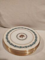 WEDGWOOD BONE CHINA APPLEDORE BREAD & BUTTER PLATES - EIGHT