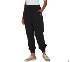 AnyBody Move High Tech Stretch Jogger Pants-Black-Small-NEW-A306094