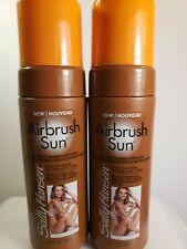 Lot of 2  Sally Hansen Airbrush Sun Instant Tanning Mousse DARK 5 oz each