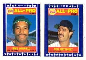 1986 Burger King All-Pro - NEW YORK YANKEES Team Set