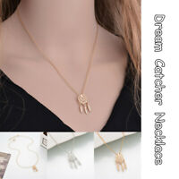 Fashion Dream-catcher Feather Pendant Stainless Steel Necklace Women's Jewelry