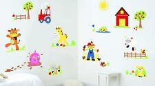 Fun To See Wall Stickers Kids Bedroom 79 Stickers Funberry Farm Theme New