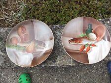 lot de 2 assiettes déco poissons