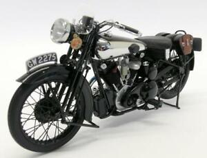MINICHAMPS 1/6 Model Moto Brough Superior Black IN Metal Diecast Modeling