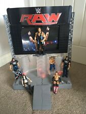 WWE Raw Entrance Stage Light Up iPad Holder Screen Accessories Figures Complete