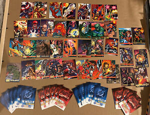 LOT OF 38 1995 FLEER DC vs Marvel Comics Trading Cards no multiples + 21 Promos