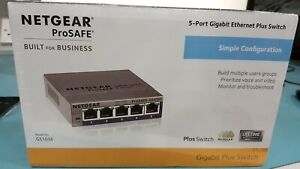 NETGEAR ProSafe Gs105e 5-port Gigabit Ethernet Plus Managed Switch (NEW)