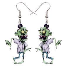 Acrylic Halloween Scary Zombie Earrings Dangle Party Jewelry For Women Kids Gift