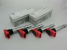 Set of 4 pcs  Red Ignition Coils For VW Touareg AUDI A4 A6 2.8 3.0 TFSI 3.2 V6