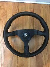 Vintage Momo Steering Wheel with Hub - Porsche Center Cap