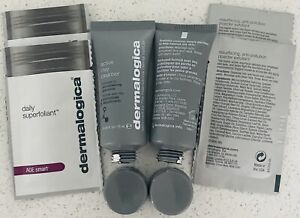 2 Dermalogica Active Clay Cleanser 0.5oz/15ml Each Travel Size & 4 Superfoliant