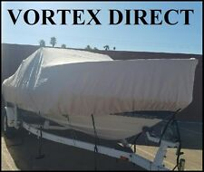 "VORTEX GRAY 21'7"" TO 22'6"" CUDDY CABIN BOAT COVER UP TO 102"" BEAM WITH STRAPS"